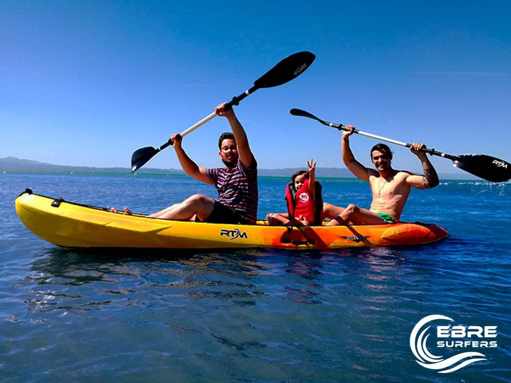 Kayak en el Delta del Ebro