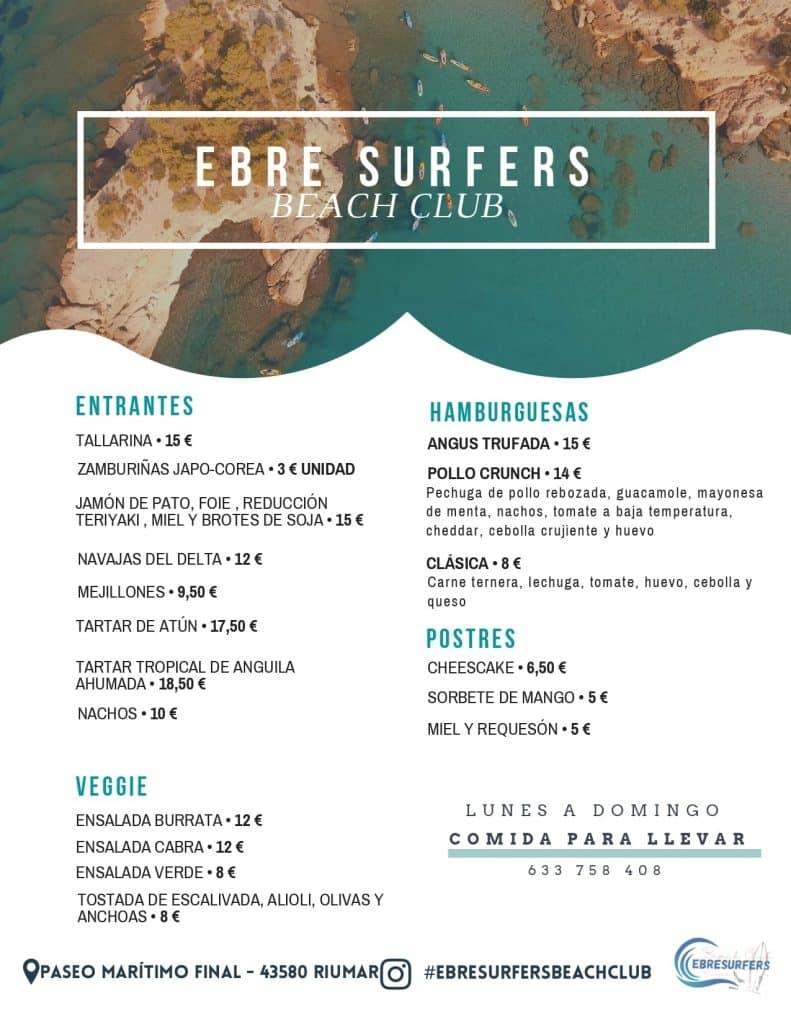 Carta Ebresurfers beach Club